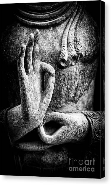 Buddha Canvas Print - Buddha Hand Mudra by Tim Gainey