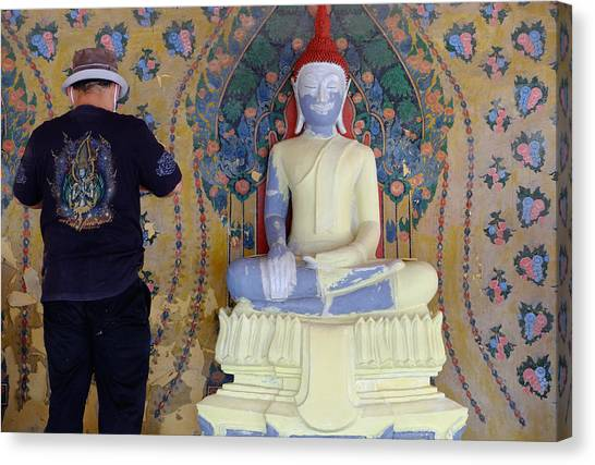 Buddha In Making Canvas Print