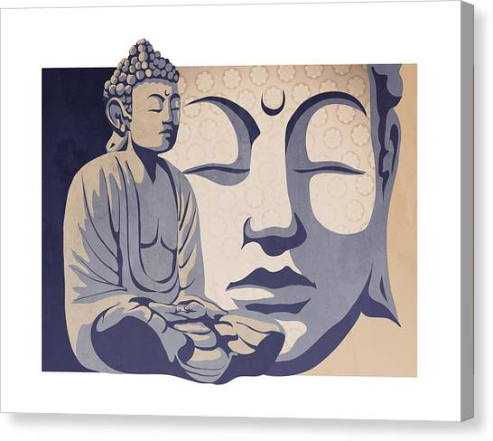 Buddha Canvas Print - Buddha by Sassan Filsoof