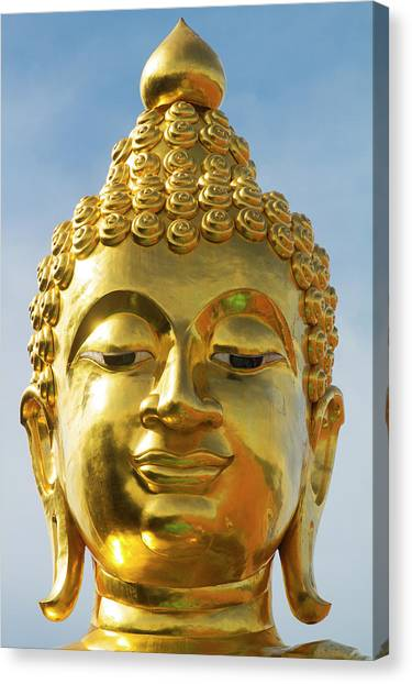 Buddha Statue At The Golden Triangle Canvas Print