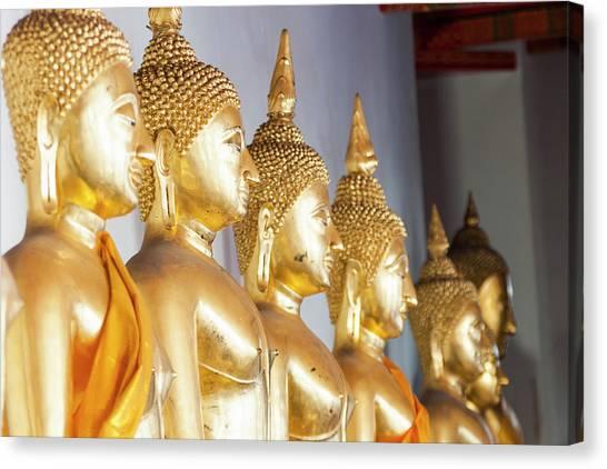 Buddha Statues, Wat Pho, Bangkok Canvas Print