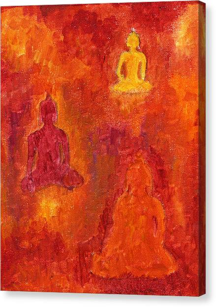 Buddhas Of Compassion Canvas Print