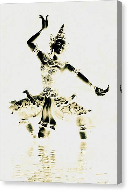 Buddhist Dancer Canvas Print
