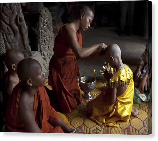 Buddhist Initiation Photograph By Jo Ann Tomaselli Canvas Print