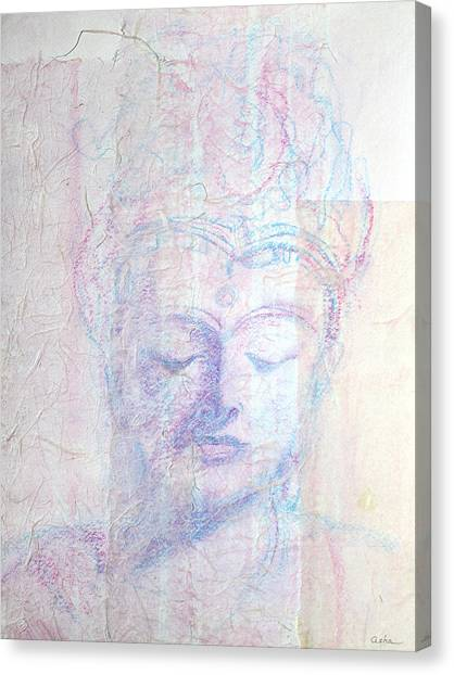 Buddhist Queen Of Long Ago Canvas Print