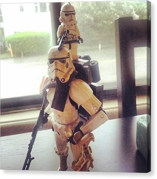Stormtrooper Canvas Print - Buddies #stormtrooper #starwars by Ian Aspden