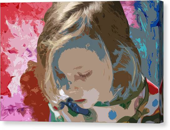 Budding Artist Canvas Print by Ellen Henneke