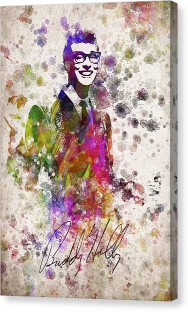 Cricket Canvas Print - Buddy Holly In Color by Aged Pixel