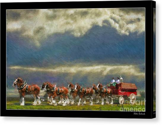 Budweiser Clydesdale Paint 2 Canvas Print