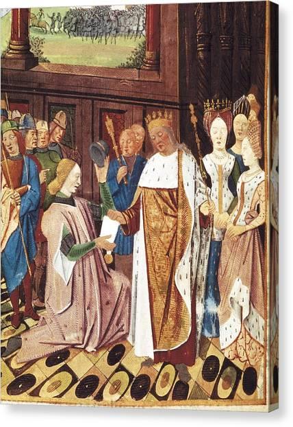 Bueil, John V Of 1406-1477. Charles Canvas Print by Everett