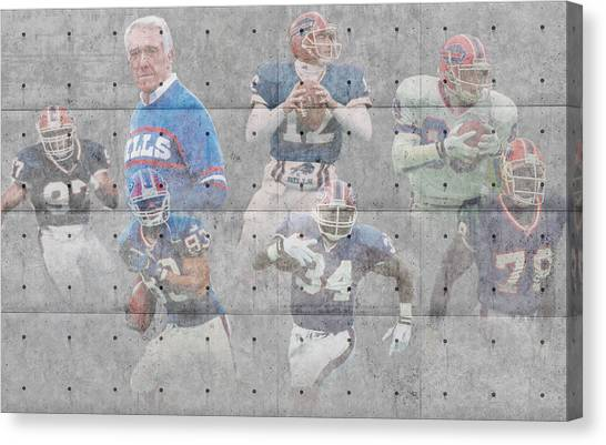 Buffalo Bills Canvas Print - Buffalo Bills Legends by Joe Hamilton