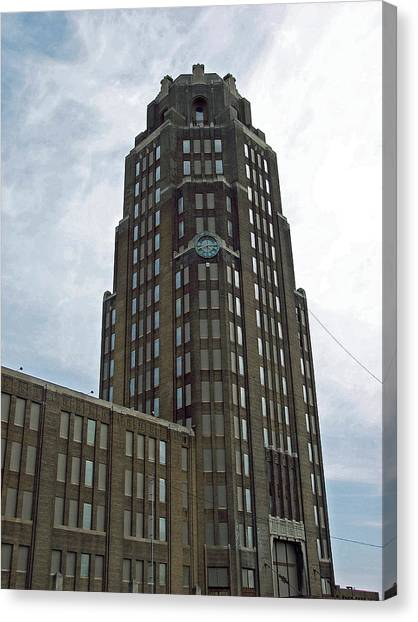 Buffalo Central Terminal Clock Tower Canvas Print by Cecelia Helwig