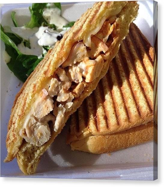 Sandwich Canvas Print - Buffalo Chicken Panini by Jamie Nakamoto
