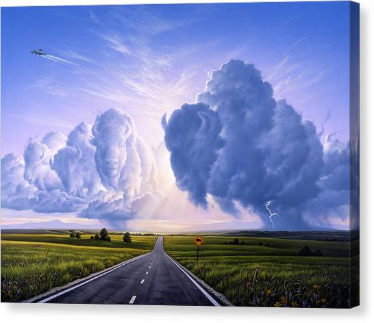 Bison Canvas Print - Nato Buffalo Crossing by Jerry LoFaro