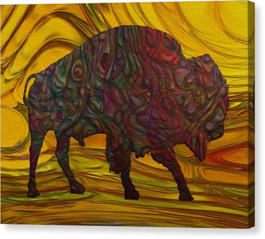 Yak Canvas Print - Buffalo by Jack Zulli