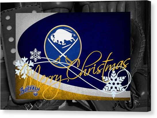 Skating Canvas Print - Buffalo Sabres Christmas by Joe Hamilton