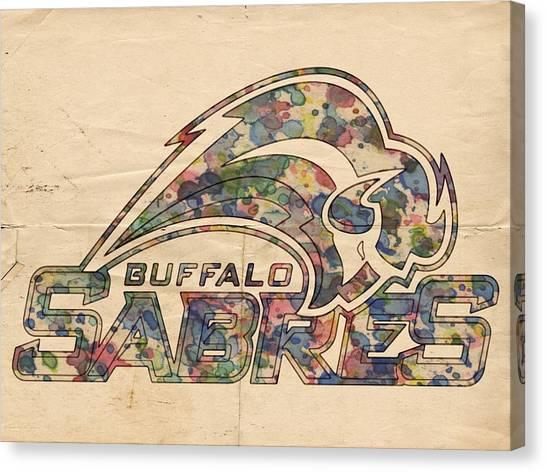 Buffalo Sabres Canvas Print - Buffalo Sabres Poster Art by Florian Rodarte