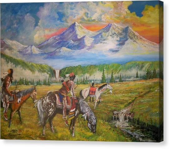 Buffalo Scouts Canvas Print