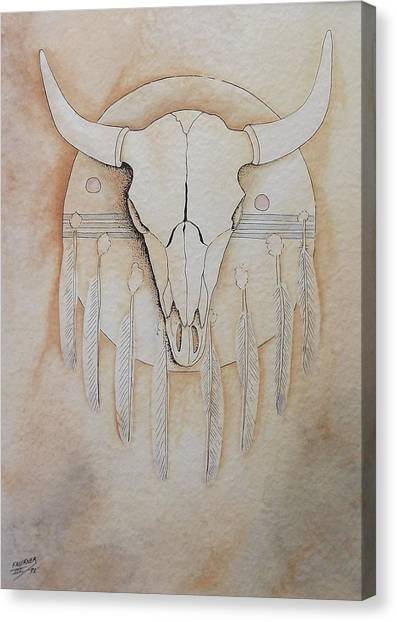 Buffalo Shield Canvas Print