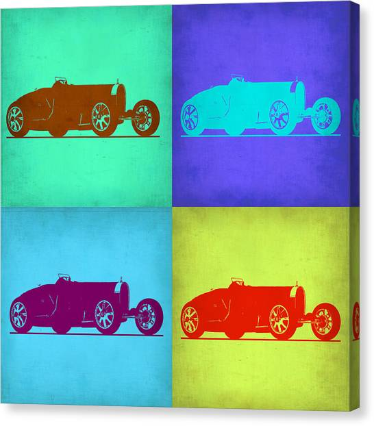 Type Canvas Print - Bugatti Type 35 R Pop Art 1 by Naxart Studio