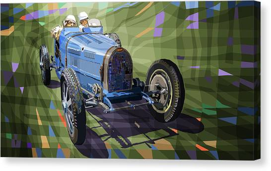 Mixed-media Canvas Print - Bugatti Type 35 by Yuriy Shevchuk