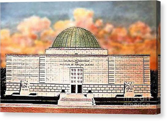 Buhl Planetarium Theatre In Pittsburgh Pa Around 1940 Canvas Print by Dwight Goss