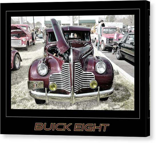 Buick Eight Retro Canvas Print