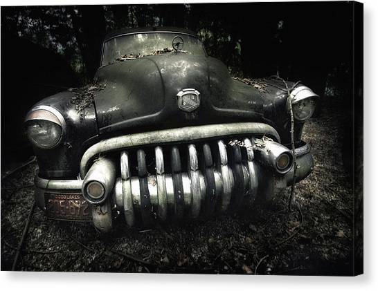Decay Canvas Print - Buick by Holger Droste