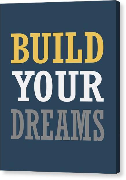 Dump Trucks Canvas Print - Build Your Dreams by Tamara Robinson