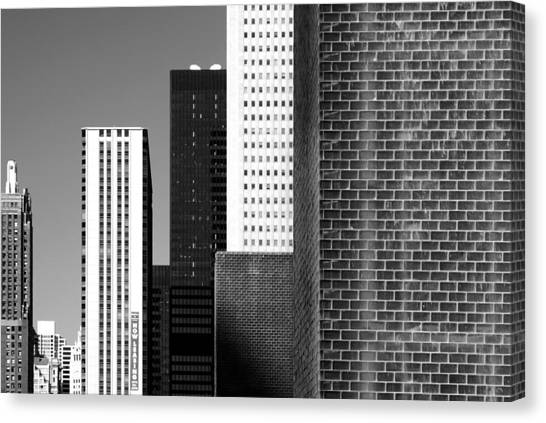 Building Blocks Black White Canvas Print