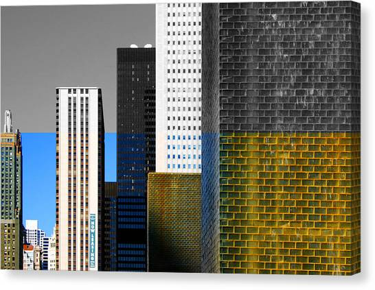 Building Blocks Cityscape Canvas Print