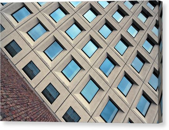 Building Of Windows Canvas Print