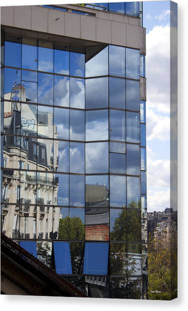 Building Reflected Canvas Print