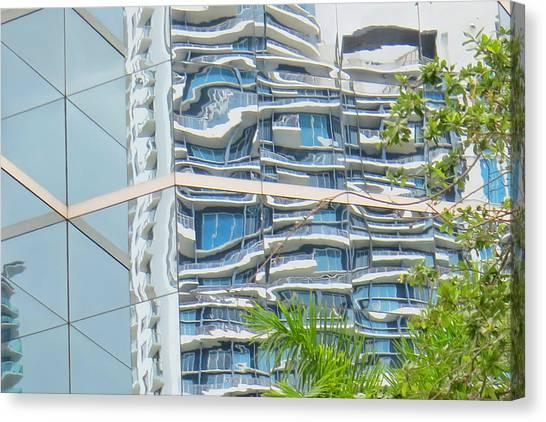 Building Reflection Canvas Print