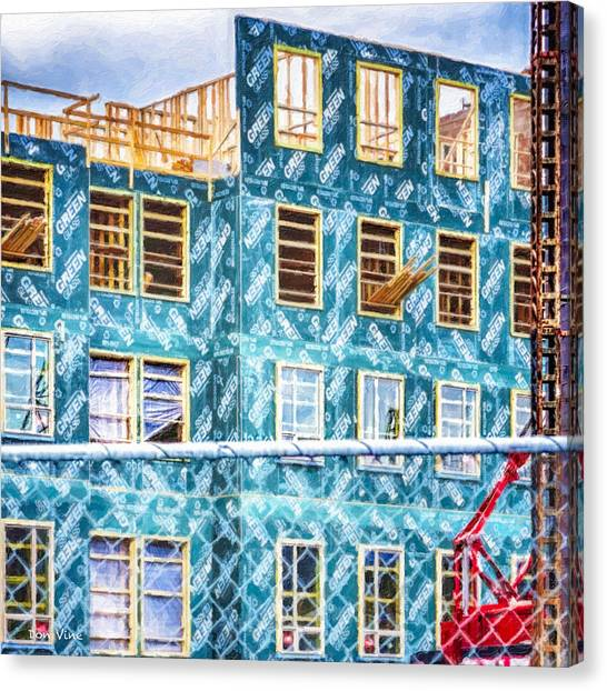 Building The Future Canvas Print