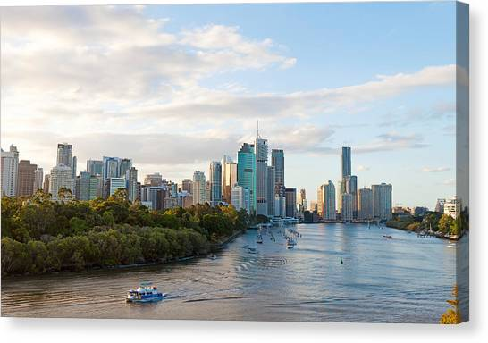 Buildings At The Waterfront, Brisbane Canvas Print