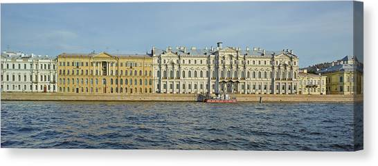 State Hermitage Canvas Print - Buildings At The Waterfront, Winter by Panoramic Images