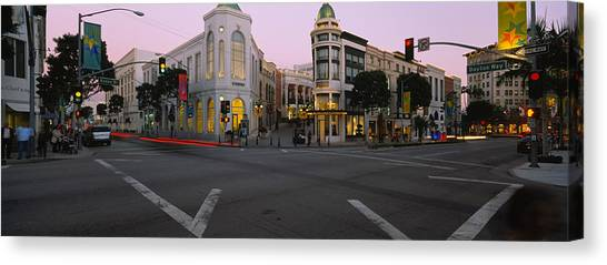 Stoplights Canvas Print - Buildings In A City, Rodeo Drive by Panoramic Images