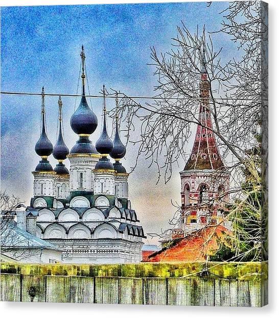 Orthodox Art Canvas Print - #buildingstylesgf #russia_ww #wu_russia by Helen Vitkalova