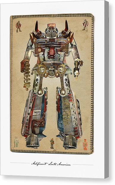 Built American Tough Robot No.2 Canvas Print by Jeff Steed