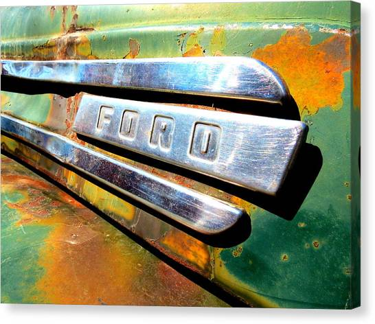 Built Ford Tough Canvas Print