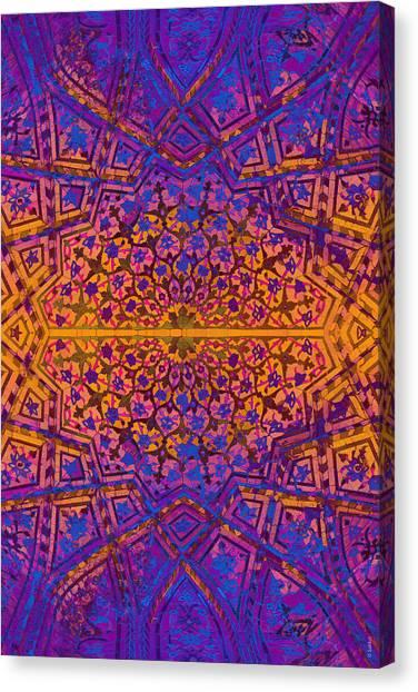 Bukhara Flower Dome Canvas Print