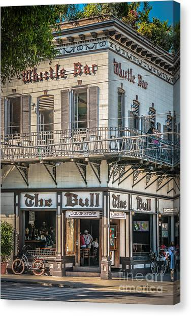 Conch Canvas Print - Bull And Whistle Key West - Hdr Style by Ian Monk