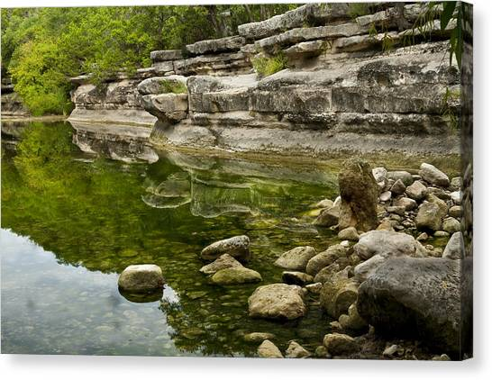 Austin Texas Canvas Print - Bull Creek by Mark Weaver