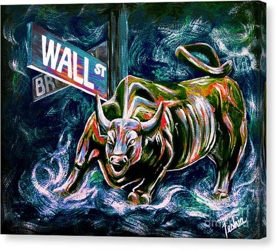 Bull Market Night Canvas Print