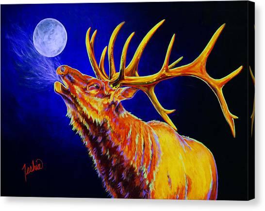 Antlers Canvas Print - Bull Moon by Teshia Art