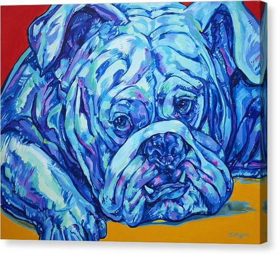 Georgia State University Canvas Print - Bulldog Blues by Derrick Higgins
