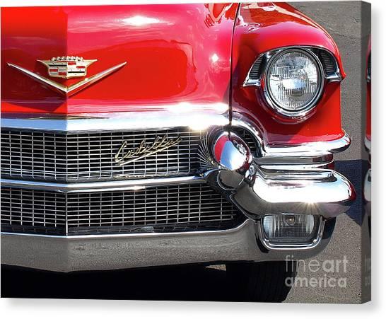 Bullet Bumpers - 1956 Cadillac Canvas Print