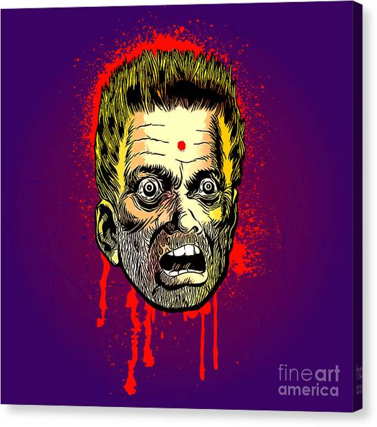 Bullet Head Canvas Print