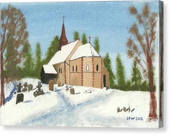 Bulley Church Canvas Print